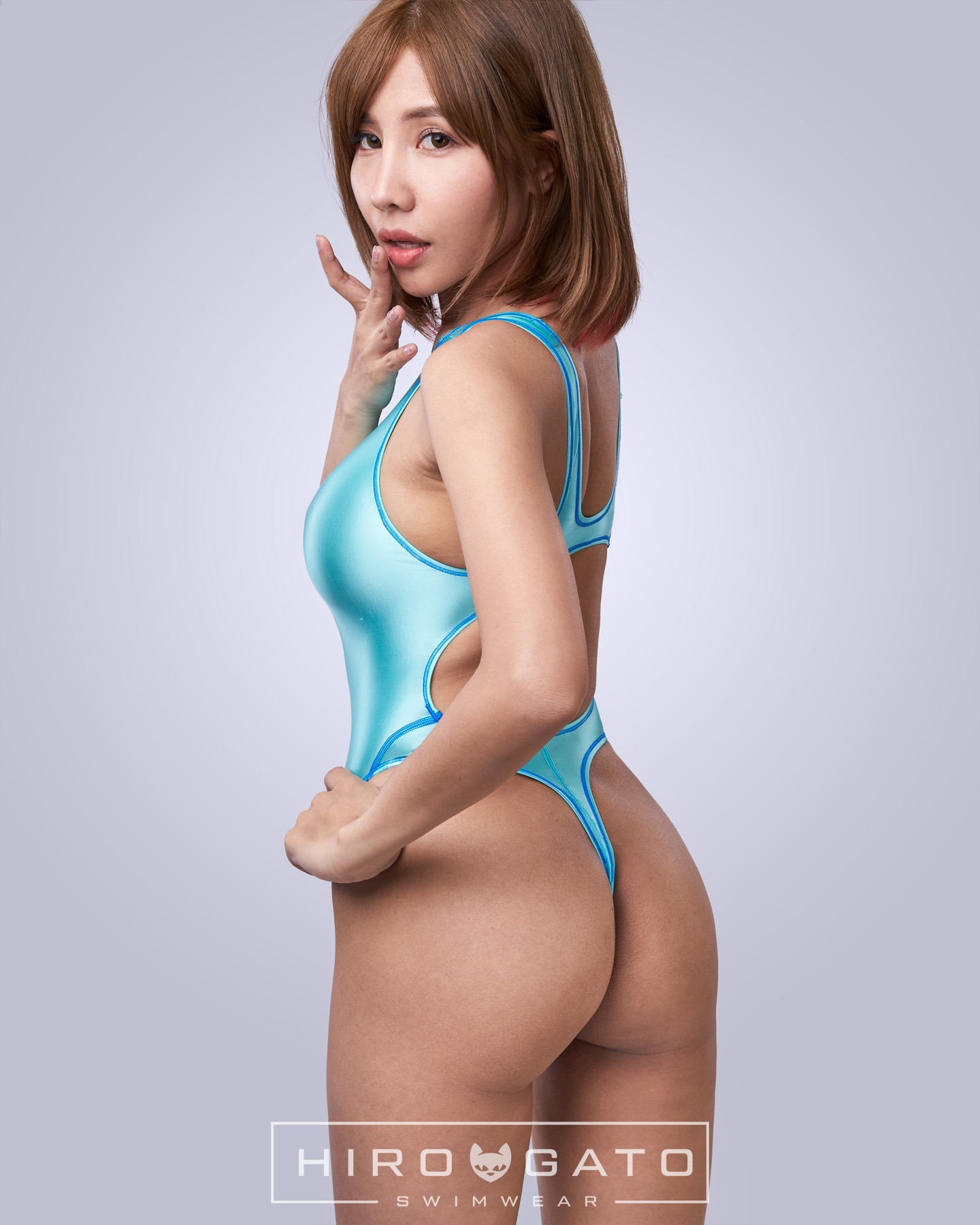 Thong Swimsuit Blue