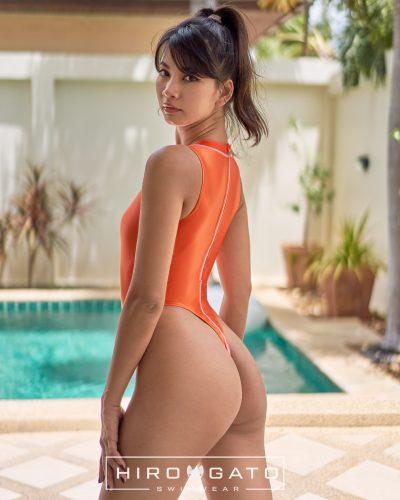 Thong Swimsuit Orange