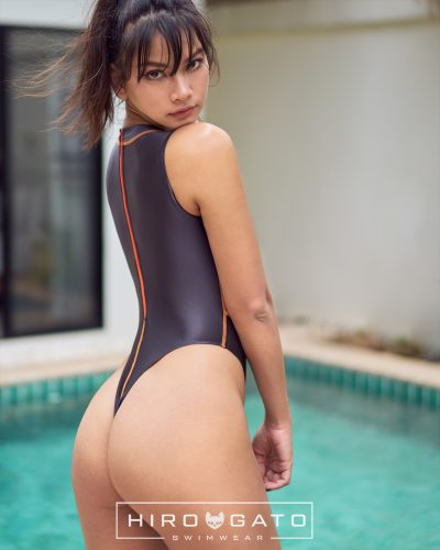 Thong Swimsuit Anthracite